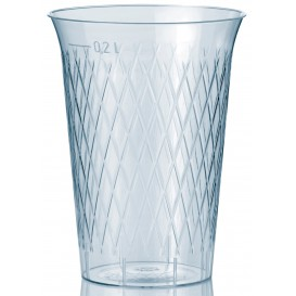 Bicchiere di Plastica Rigida Rombi PS 200 ml (1000 Pezzi)
