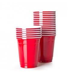 Bicchiere Rosso Plastica di PS 470ml (1000 Pezzi)