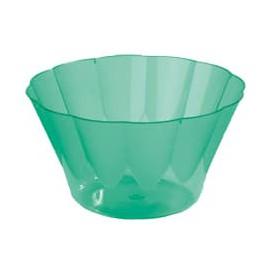 Coppa di Plastica Royal per Gelato e Dessert Verde 300 ml (35 Pezzi)