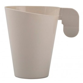 Tazze di Plastica Design Crema 155ml (12 Pezzi)
