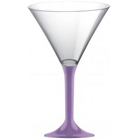 Calice di Plastica Cocktail Gambo Lilla 185ml (200 Pezzi)