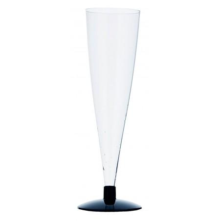 Calice Flute Gambo Nero 150ml 2p (6 Pezzi)