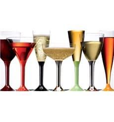 Calice di Plastica Vino Gambo Lampone 130ml (6 Pezzi)