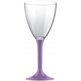 Calice Plastica per Vino Gambo Lilla 180ml (200 Pezzi)