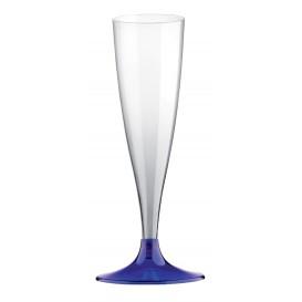 Flute Plastica Gambo Blu Transp. 140ml 2P (20 Pezzi)