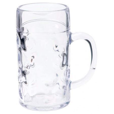 Boccale di Plastica per Birra Trasp. Ø77mm 500ml (6 Pezzi)