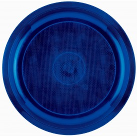 Piatto di Plastica Blu Round PP Ø290mm (25 Pezzi)