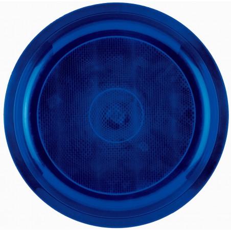 Piatto di Plastica Blu Round PP Ø290mm (150 Pezzi)