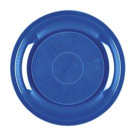 Piatto Plastica Dessert Blu Mediterranean Round PP Ø185mm (600 Pezzi)