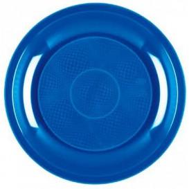 Piatto Plastica Piano Blu Mediterraneo Round PP Ø220mm (600 Pezzi)