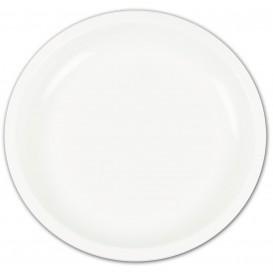 Piatto di Plastica Bianco Ø235mm (400 Pezzi)