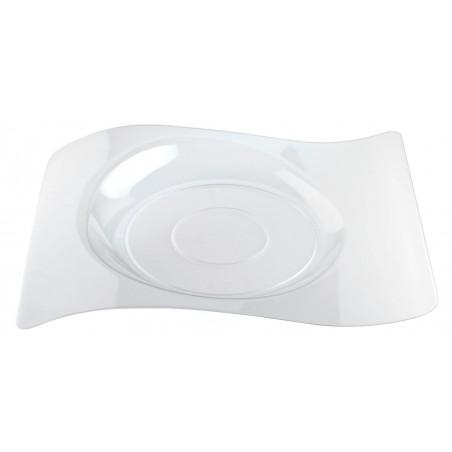 """Piatto di Plastica """"Forma"""" Transparent 22x18 cm (180 Pezzi)"""