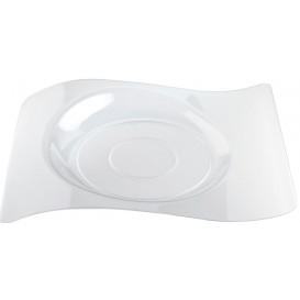 """Piatto di Plastica """"Forma"""" Transparent 28x23 cm (12 Pezzi)"""