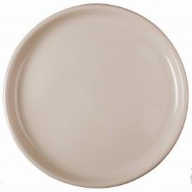 Piatto di Plastica per Pizza Nero Ø350mm (72 Pezzi)