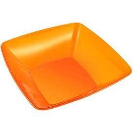 Ciotola di Plastica Quadrata Arancione 28x28cm (20 Pezzi)