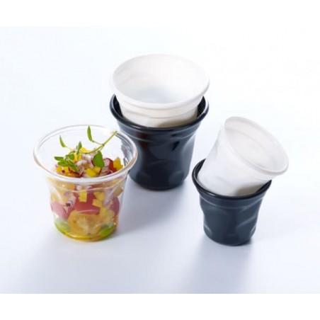 """Mini Bicchiere Plastica Degustazione """"Cabosse"""" Nero 60ml (12 Pezzi)"""