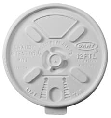 "Coperchio di plastica PS ""Lift n' Lock"" Linguetta Ø8,9cm (100 Pezzi)"