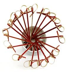 Spiedi di Bambu Decorato Cappio Rosso 120mm (5000 Pezzi)