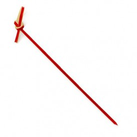 Spiedi di Bambu Decorato Cappio Rosso 180mm (200 Pezzi)
