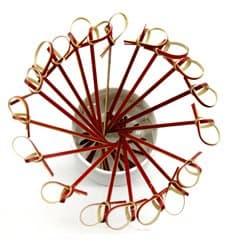Spiedi di Bambu Decorato Cappio Rosso 180mm (5000 Pezzi)