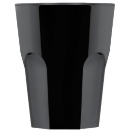 Bicchiere Riutilizzabile SAN Rox Nero 300ml (120 Pezzi)