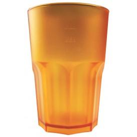 Bicchiere Riutilizzabili SAN Frost Arancio Trasparente 400ml (75 Pezzi)