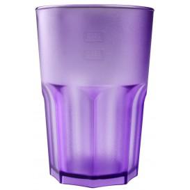 Bicchiere Riutilizzabili SAN Frost Lilla Trasparente 400ml (5 Pezzi)