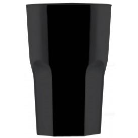 Bicchiere Riutilizzabili SAN Granity Nero 400ml (5 Pezzi)