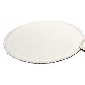 Piatto di Carta Bianca per Pizza Ø33cm  (50  Pezzi)