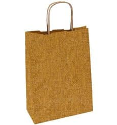 Buste Shopper Carta Kraft Naturale 80g 26+14x32 cm (50 Pezzi)