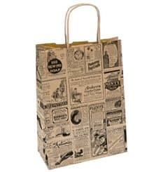 Buste Shopper in Carta Giornali 80g 20+10x29 cm (250 Pezzi)