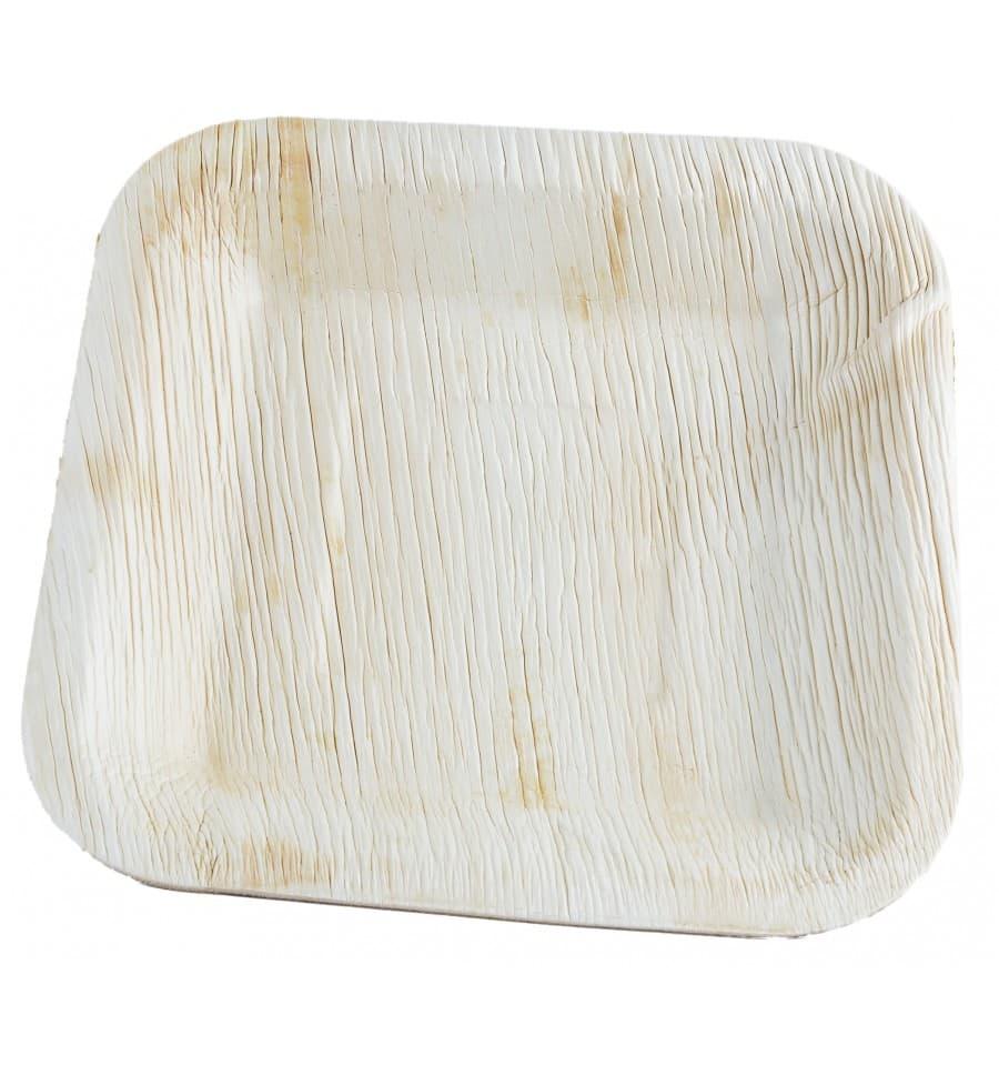 Piatto quadrato in foglia di palma 20x20 cm 100 pezzi for Piede quadrato di 20x20