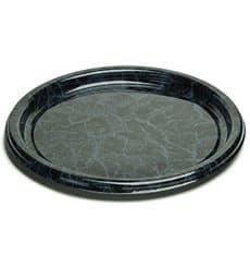 Vassoio di Plastica Rotondo Marmo 30 cm (5 Pezzi)