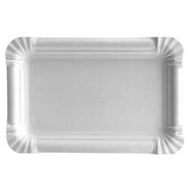 Vassoiodi Cartone Rettangolare Bianco 12x19cm (100 Pezzi)
