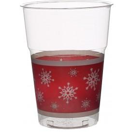 """Bicchiere Plastica """"Diamant"""" PS Cristal Fiocco di Neve 200ml (200 Pezzi)"""