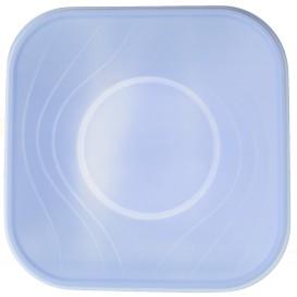 Ciotola Plastica Quadrato Turchese PP 180x180mm (8 Pezzi)