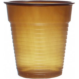 Bicchiere Plastica PS Vending Marrone 166ml Ø7,0cm (3000 Pezzi)