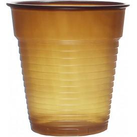 Bicchiere Plastica PS Vending Marrone 166ml Ø7,0cm (100 Pezzi)