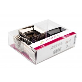 Set Degustazione Finger Food Plastica PS 54pz (18 Kits)