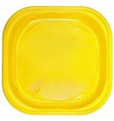 Piatto di Plastica PS Piazza Piano Giallo 200x200mm (720 Pezzi)