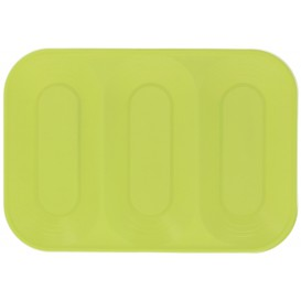 "Vassoio di Plastica PP ""X-Table"" 3C Lime 330x230mm (30 Pezzi)"