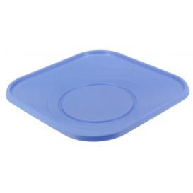 Piatto di Plastica Piazza Piano Turchese PP 180mm (8 Pezzi)