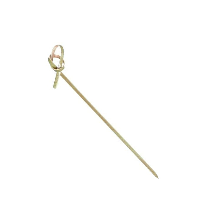 Spiedi di Bambu Decorato Cappio 120mm (100 Pezzi)