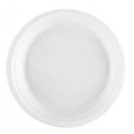 Piatto Bianco Canna da Zucchero Bianco Ø230mm (1000 Pezzi)
