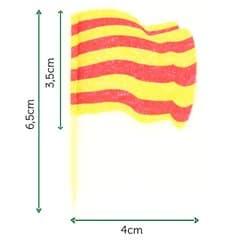 """Spiedi in Legno Bandiera """"Catalogna"""" (144 Pezzi)"""