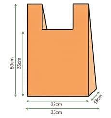 Sacchetto di Plastica Canottiera 35x50cm Arancione (200 Pezzi)