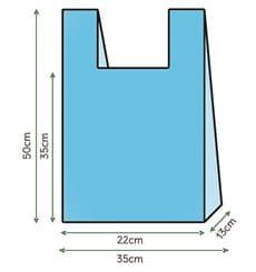 Sacchetto di Plastica Canottiera 35x50cm Blu (1000 Pezzi)