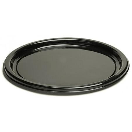 Piatto di Plastica Tondo Nero 18 cm (250 Pezzi)