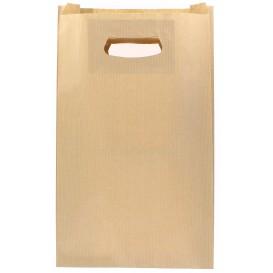 Sacchetti Carta Kraft Manico Fagiolo 24+7x37cm (50 Pezzi)