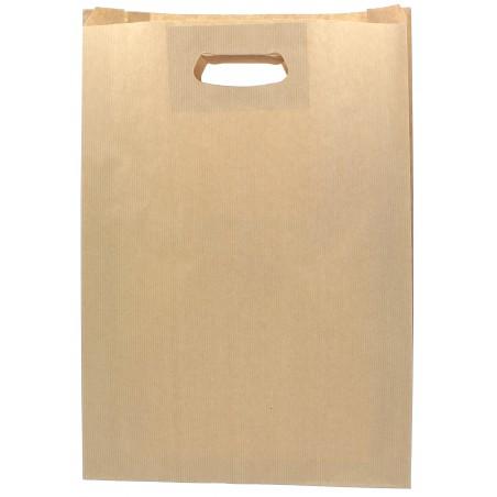 Sacchetti Carta Kraft Manico a Fagiolo 31+8x42cm (250 Pezzi)